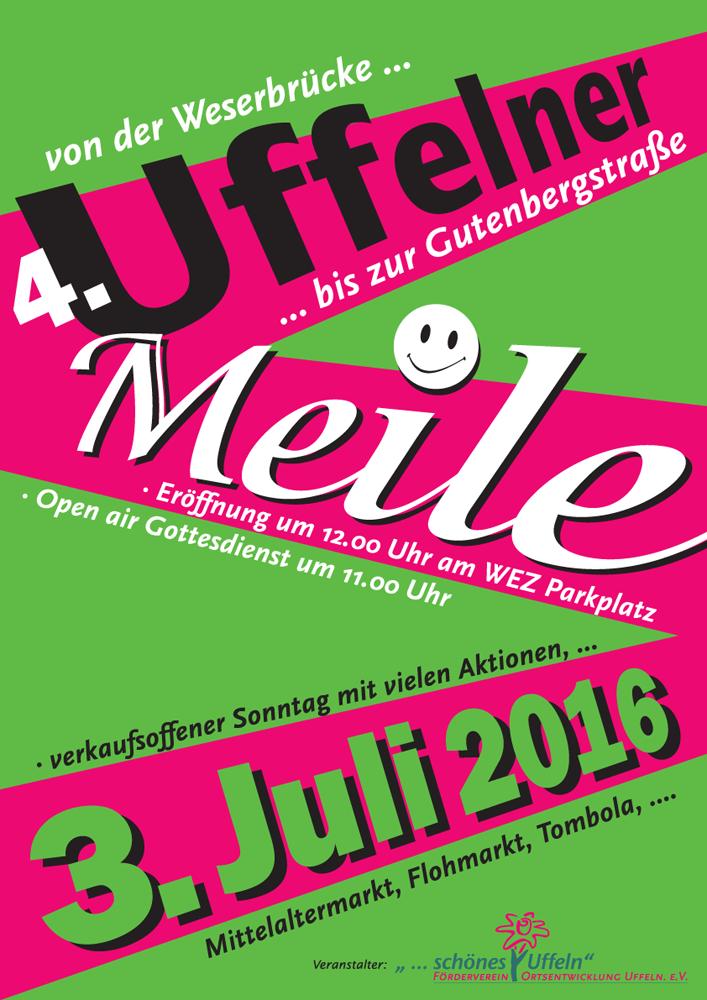 4. Uffelner Meile am 3. Juli 2016 in Vlotho-Uffeln